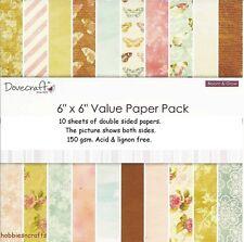 Dovecraft Bloom & crecer de Doble Cara 6 X 6 Paquete de muestra de 1 de cada uno - 10 Hojas