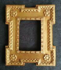 cadre bois doré italie feuillure 12 cm x 9 cm frame miniature tableau photo