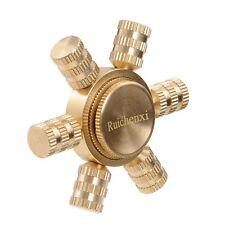Hexagonal Hand Spinner Brass fidget toy Metal EDC finger Spinner stress new