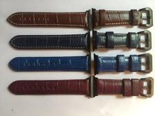 Genuine Leather 42mm Watch Strap Band Crocodile Pattern for ALL Apple Watch Ser