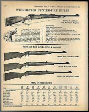 1968 WINCHESTER Model 70 African Cen, 670 Bolt Action Carbine, Rifle & Magnum AD