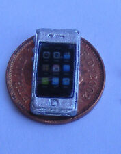 1:12 Non Working Smart Phone Silver Telephone Dolls House Miniature Accessory