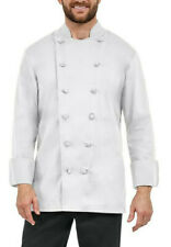 New Chef Revival Chef's Cool Crew Jacket Poly/Cotton Cloth w/ Knot Buttons - Xs