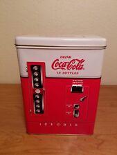 Coca cola vending machine tin vintage