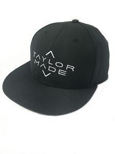 NEW TaylorMade 2020 Flat Bill Stretch Black Adjustable Snapback Hat/Cap