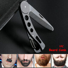 New Foldable Stainless Steel Beard Comb Hair Mustaches Hairdressing Styling Comb