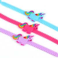1X Pink/Blue Rubber Bangle Cute Kids/Girl Unicorn Pony Bracelet Jewelry Gift