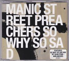 Manic Street Preachers - So Why So Sad - CD (2001 Sony Australia)