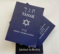 Tanak ( ORIGINAL ) Las Escrituras 3 Tomos letra grande, Toráh Espańol y Hebreo