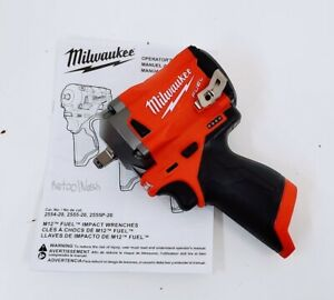 """Milwaukee 2554-20 M12 FUEL Cordless Stubby 3/8"""" Impact Wrench (Tool-Only)"""