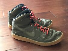 f664aa9d12f8 Nike 807242-330 Son Of Force Mid Winter Dark Loden Green Red Mens Shoes Sz