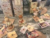 Lot of 4 MEMORIES OF YESTERDAY Figurines w/Boxes ~Fairest ~Love Song~Truly ~Love