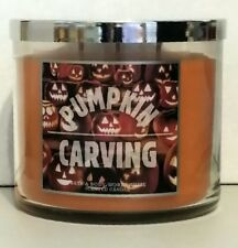 PUMPKIN CARVING 3 WICK 14.5 oz CANDLE  Bath & Body Works Home VHTF Label NWT FS