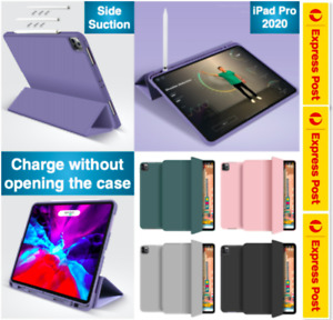Year 2020 iPad Pro 12.9 inch Pro 11 inch Smart Cover Pencil Holder Case TPU Back