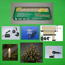 LED Lichterkette Stern Weihnachtslichterkette warmweiss Stecksystem Tannenbaum