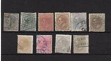 España. Serie completa de Alfonso XII usada. Edifilnº 200/09. Valor 441.55 Euros