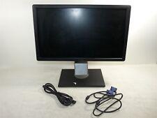 """DELL 20"""" Monitor P2012 LED 16:9 1600 X 900 Wide Grado A DVI VGA"""