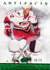 12-13 Artifacts EMERALD Dual JERSEY/PATCH xx/75 Made! Eric STAAL #26 Hurricanes