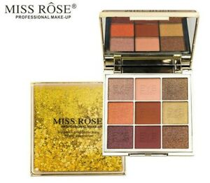 Miss Rose Professional make-up STARLIGHT QUICKSAND 9 color Eyeshadow Palette
