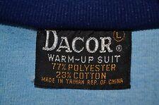 Dacor Ken Retro Scuba Diving Dive Shop L Track Warm Up Suit Jacket VTG 70s 80s