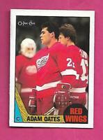 1987-88 OPC # 123 WINGS ADAM OATES  ROOKIE NRMT CARD (INV# C7604)