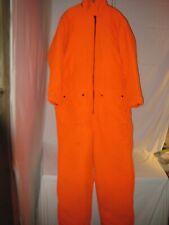 Insulated Blaze Orange Deer Hunting Coveralls Men's XL Lined