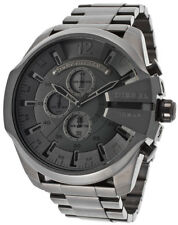 2018 NEW DIESEL Mega Chief Chronograph Grey Dial Gunmetal Men's Watch DZ4282