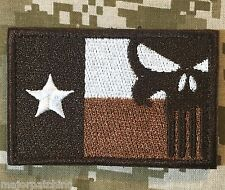 TEXAS STATE FLAG PUNISHER US ARMY MORALE ISAF DESERT VELCRO® BRAND BADGE PATCH