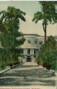 Barbados Bridgetown - Government House from Garden old uncommon view postcard