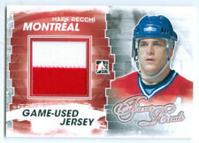 "MARK RECCHI ""2 COLOR SILVER GAME USED JERSEY CARD"" FOREVER RIVALS CANADIENS"