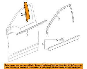 Cadillac GM OEM 10-16 SRX Front Door-Applique Window Trim Right 20932872