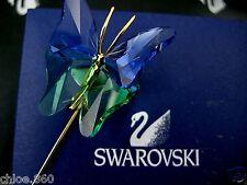 DANIEL SWAROVSKI CRYSTAL BUTTERFLY STICK PIN~BROOCH RETIRED NEW IN BOX !!