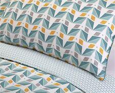Sainsbury's Home Retro Geometric Teal Grey Mustard KING SIZE Duvet Cover set