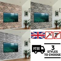 3D Wall Cladding Panels Decorative Brick Slate Effect PVC Panelling Grey Beige ✅