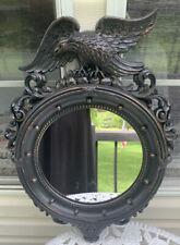 Antique Mac Malice Dart  Federal Bulls Eye Mirror Black Gold Leaf