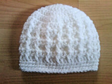 Handmade Hand Crocheted Unisex Baby Cable Hat 100% Acrylic various sizes/cols.