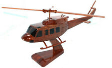BELL 212 HELICOPTER MODEL NATURAL WOOD -W- Personalized Plaque