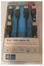 BELKIN 5-IN-1 USB ADAPTER KIT MICRO -USB CHARGING ADAPTER INCLUDED