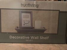 True Living Decorative Wall Shelf, Photo Frame, And Candle Holder