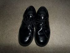 Boys Black Leather Lace Ups Stride Rite Shoes Size 1.5  Jefferson