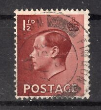 Gb = Postmark - E8 era. `Findon / Worthing. W. Sussex` 1937 Thick Arcs. (O1964)