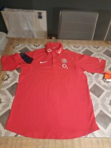 Nike England Rugby Shirt Top Red Size L