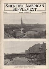 1913 Scientific American Supp January 11-Hamburg Germany Railway;Paris Aero Show