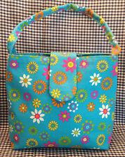 Flores En Tela Azul bolsa libre UK FRANQUEO