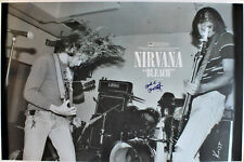 Nirvana rare BLEACH promo poster, Hand signed by Krist Novoselic & Chad Channing