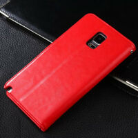 RED Luxury Wallet Flip PU Leather Case Stand Cover For Samsung Galaxy S4 i9500