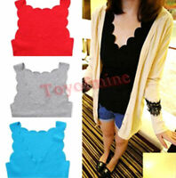 New Women's wave edge sleeveless cotton blend tank top/vest/top 6 colors