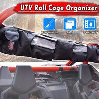 UTV Large Black Roll Cage Organizer Cargo Gear Storage Rack Pouch Bag   !!