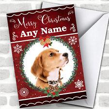 English Foxhound Dog Traditional Animal Personalized Christmas Card