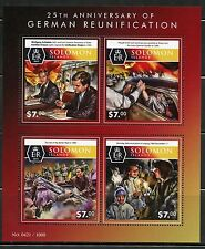 SOLOMON ISLANDS 2015 25th ANNIVERSARY RE-UNIFICATION OF GERMANY SHEET MINT NH
